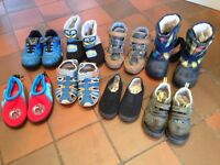 8 pairs of boys shoes/boots size 9 - £5 the lot