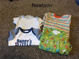 Clothes ranging from newborn through to 12 months