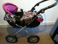 Child's silver Cross play pushchair