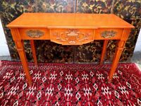 FINE FRENCH LOUIS XV1 EMPIRE HAND CARVED WRITING/ SIDE/ HALL TABLE VGC