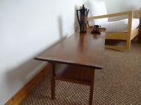 Vintage 1960's Teak Coffee Table With Under Shelf