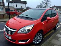 2014 64 VAUXHALL MERIVA 1.4 SE, ONLY 4,000 MLS,FVSH,HALF LEATHER,GLASS ROOF, IMMACULATE & AS NEW..
