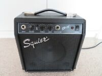 Squier SP10 Guitar Amplifier. Overdrive, tone and volume. Headphones socket.