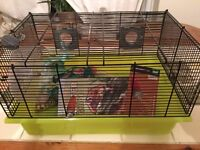 Hamster cage and all the stuff!