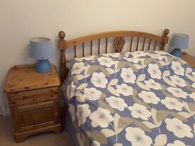 Ducal Bedroom Furniture - bedside tables, headboard, wardrobe, large chest and bookcase, as new