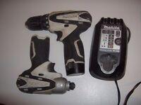 Makita 10.8v Drill and Impact Driver Set.