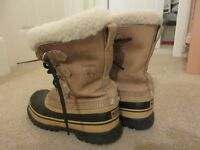 Ladies Authentic Caribou Sorel Winter Boots--Size 8 US/39 EU/6 UK