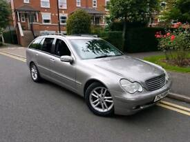 2004/04 MERCEDES C220 CDI AUTOMATIC ESTATE DIESEL LEATHERS £1495