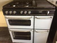 Black & silver new home 80cm dual fuel cooker grill & fan oven good condition with guarantee