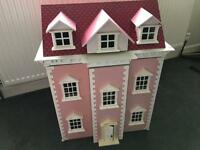 Three Storey Pink Dolls Townhouse