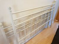 SHABBY CHIC KING SIZE METAL BED FRAME IN GOOD USED CONDITION FREE LOCAL DELIVERY 07486933766