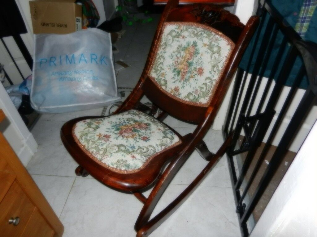 Terrific Vintage Childs Tapestry Rocking Chair In Dennistoun Glasgow Gumtree Gmtry Best Dining Table And Chair Ideas Images Gmtryco