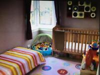 Mamas & Papas solid wooden large cot (turns into cot bed)