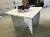 White square coffee table 60cm x 60cm. Pick up only.