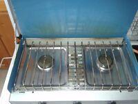 camping gaz 2 ring gas cooker