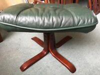Real leather footstall - Excellent condition