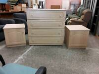 Set of Drawers and 2 Bedside Cabinets. Delivery Available.