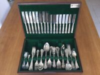 Butlers 84 piece Canteen of Cutlery, Kings pattern EPNS, 8 place settings. Rarely used.