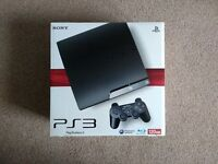 PlayStation 3 Slim 120GB with original box, controller and cables