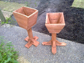Stand Alone Raised Wooden Planter / Pot Holder