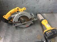 Dewalt 18V Mitre Saw & Dewalt 18v Torch Light W-R