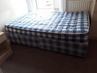 4 foot divan bed with mattress