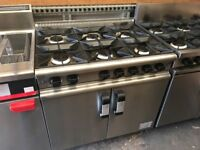 GAS 6 RING COOKER UNDER OVEN CATERING COMMERCIAL KITCHEN EQUIPMENT CAFE KEBAB CHICKEN RESTAURANT BAR