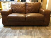 Barker and Stonehouse Brown(Tan) Leather 2 seater sofa