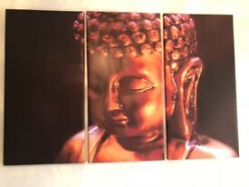 Large Buddha Head Print-3 pieces. £20