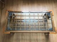Hand made glass table