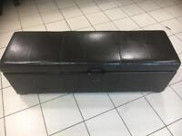 Dark Brown Leather ottoman for sale ex Display