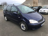 Ford Galaxy 1.9 TDi Ghia 5 door - 2002, MOT MAY 2017, SatNav, Parking Sensors, 7 Seater, £995