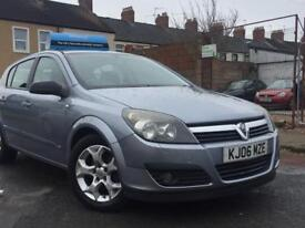 2006 ( 06 ) VAUXHALL ASTRA SXI TWINPORT 1.6 PETROL HATCHBACK (SILVER) LONG MOT& 100% HPi clear