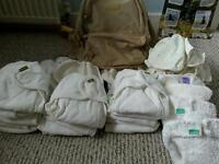 Bundle of real reusable nappies in mint condition