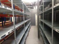 150 bays Galvenised SUPERSHELF industrial shelving 2.1m high. ( pallet racking /storage)
