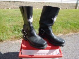 Harley Davidson black leather Boots.