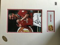 Signed Roy Keane and Ruud Van Nistelrooy mounted pics (Man Utd). Authentification cert included