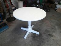 Small solid pine painted kitchen table