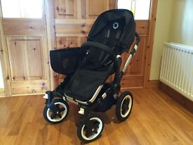 Bugaboo donkey twin/duo/mono stroller. Fully loaded with extras.
