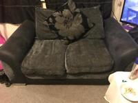 Dfs 2 seater grey and black