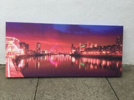 Canvas scene of Glasgow city