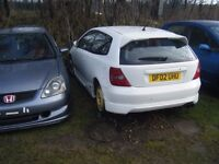 BREAKING 2 HONDA CIVIC TYPE R CARS PRE FACELIFT MODELS CAN POST PARTS