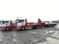 SCANIA R420 4x2 HIGHLINE AUTOMATIC CRANE LORRY 22ft TRI AXLE DRAG TRAILER