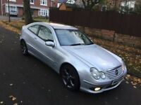 Mercedes c220 cdi coupe diesel automatic 55 reg diesel full leather dent on wing