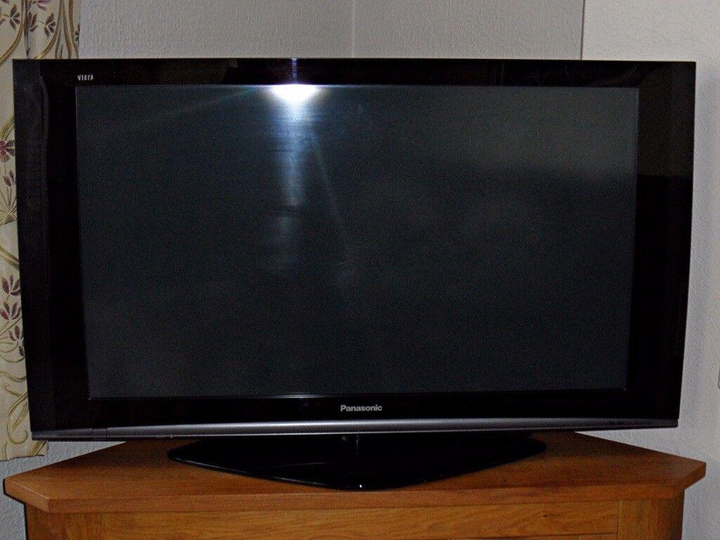 Panasonic 42 Inch Full Hd Plasma Tv Th 42pz70ba Black Fully Working Of Display