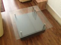 stylish couch table with glass top