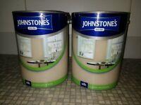 2 x 5 Litres Magnolia / neutral / beige SILK PAINT tubs
