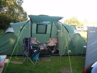 Trespass 2 bedroom tunnel tent 6 man