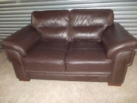 Brown Leather 2-seater Sofa (Suite)