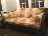 Reduced price / wrought iron couch